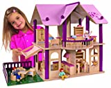 Eichhorn 2513 Dolls' Villa with Figures and Furniture