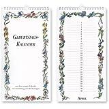 Geburtstagskalender Groß - Wandkalender (16,5 x 32) - mit ewigem Kalender zur Ermittlung von Wochentagen - Jahresunabhängig