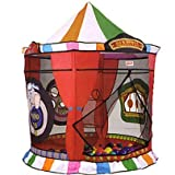 519awZwv1LL. SL160  Playhut Lil Explorers Carnival Ball Zone Pit Play Tent with Twist and Fold Instant Set Up Technology Plus 3 Fun Games  and 50 Balls with Carry Case