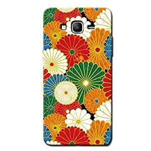 COLORED FLOWERS BACK COVER SAMSUNG ON 5