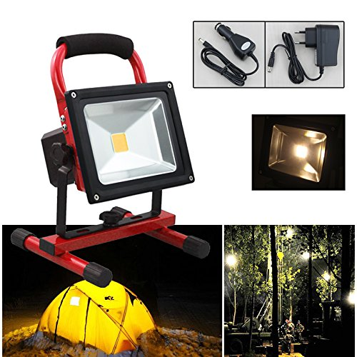 LED-Akku-Strahler-Handlampe-Arbeitsleuchte-Baustrahler-IP65-Camping-chnurlos-tragbar-Baulicht-Warmwei-50W-4000lm