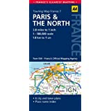 AA Road Map Paris & the North (AA Touring Map France 071) (Road Map France)