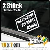Nix verkaufen, nix Karte, Meins! 10 x 7 cm JDM Decal Sticker Aufkleber Racing Die Cut