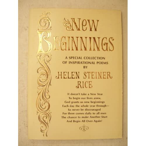 New Beginnings A Special Collection of Inspirational Poems
