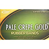 Alliance Pale Crepe Gold Size #33 (3 1/2 x 1/8 Inches) Premium Rubber Band - 1 Pound Box (Approximately 970 Bands per Pound) (20335)