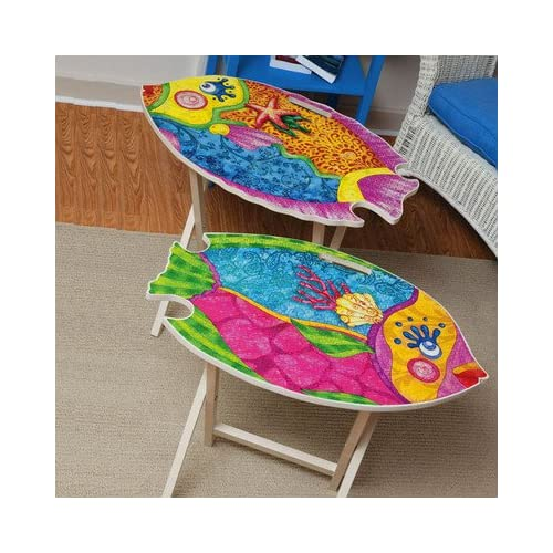 Amazon.com - Coastal Delights Fish Shaped TV Tray