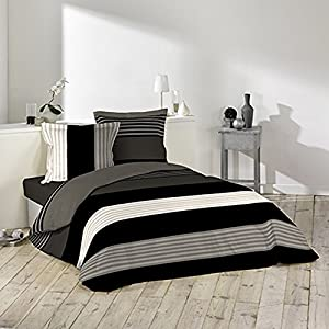 Douceur d'Intérieur 1641042 Romeo - Juego de ropa de cama (3 piezas, algodón, 220 x 240 cm)