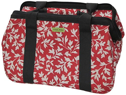 JanetBasket Red Floral Eco Bag from Notions Marketing - Drop Ship