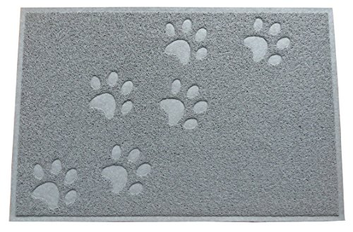 63% OFF (Sale Ends Jan 31) Cat Litter Catcher Mat + Free e-Book Bonus | Safe and Non-Toxic | Soft and Easy on the Paws | Easy-to-Clean | Large (35″ x 24″), Grey Color