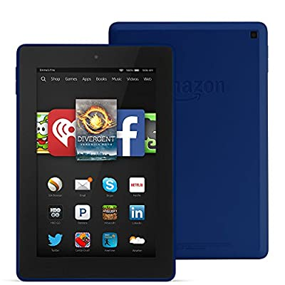 "Fire HD 7, 7"" HD Display, Wi-Fi, 8 GB, Cobalt"
