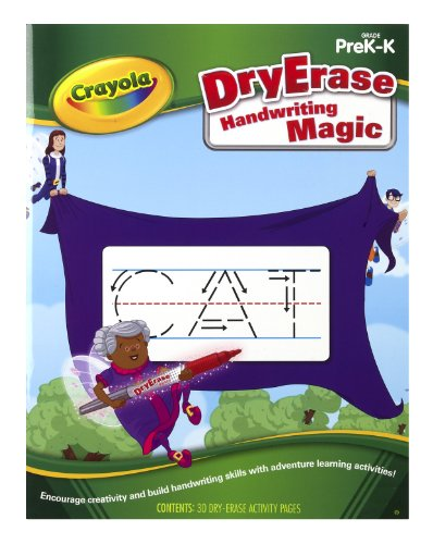 Crayola Dry Erase Learning Activity Workbook Handwriting Magic