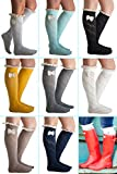 Our World Boutique Womens Lace Crochet Bow Boot Socks