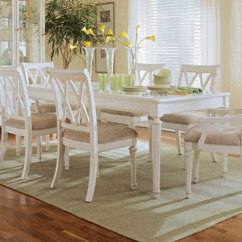 American Drew Camden Leg Casual Dining Table in Antique White Finish