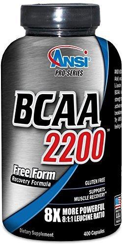 ANSI - BCAA 2200 - 8X More Powerful 8:1:1 Leucine - 400 Capsules by ANSI