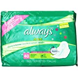 Always Fresh Ultra Thin Long/Super Pads With Wings, Clean Scent,  40 Count (Pack of 2)