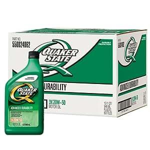 Quaker State 550024062-12PK 20W-50 Advanced Durability Motor Oil - 1 Quart (Pack of 12)