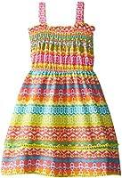 Youngland Little Girls' Aztec Print Knit Smocked Sundress