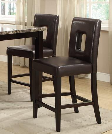 Enjoyable Cheap Modern Dark Brown Faux Leather Counter Height Dining Inzonedesignstudio Interior Chair Design Inzonedesignstudiocom