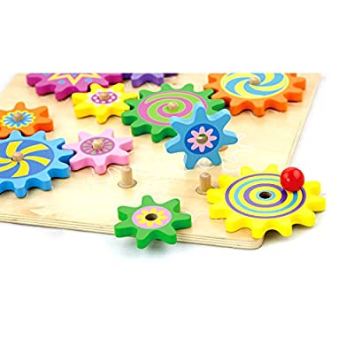 Viga Wooden Spinning Gears & Cogs
