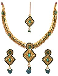 Dishi Imitation Antique Gold Plated Chain Necklace For Women - B00P16GKUW