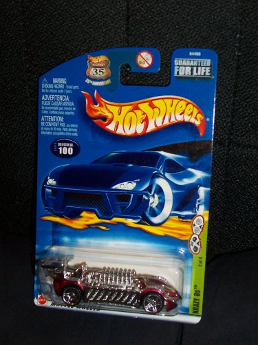 Hot Wheels 2002 100 Grave Rave Series Krazy 8s on 35th Anniversary Shield Card