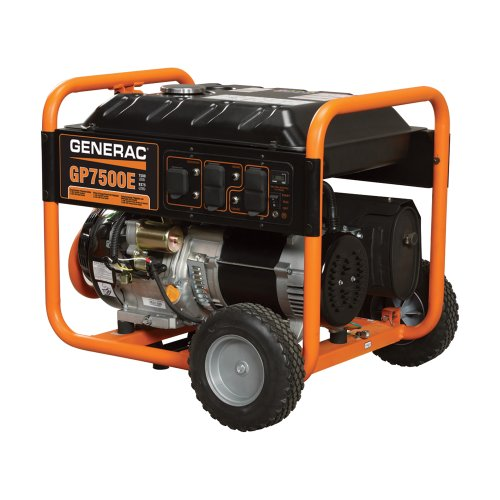 Generac 5943, 7500 Running Watts/9375 Starting Watts, Gas Powered Portable Generator, CARB Compliant (Discontinued by Manufacturer) (Electric Start Generator Honda compare prices)