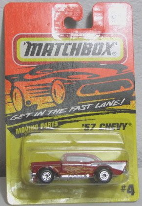 Matchbox Red Yellow Flames 57 1957 Chevy #4 1994