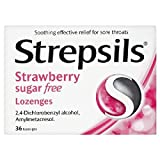 Strepsils Sugar Free Strawberry Lozenges 36 per pack
