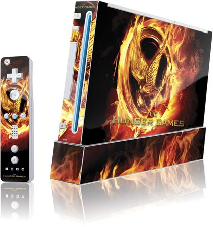 Skinit The Hunger Games Logo Vinyl Skin for Wii (Includes 1 Controller) Skin
