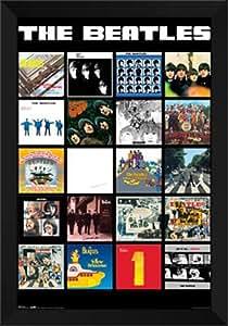 Amazon Com Beatles Album Covers 28x40 Framed Art Print