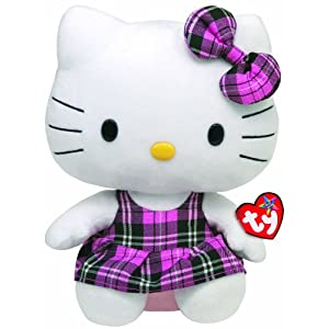 Ty Beanie Hello Kitty Tartan