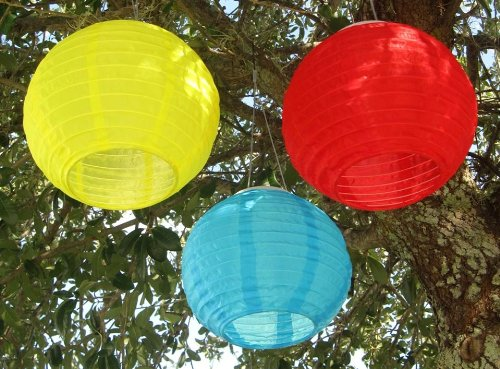Smart Solar 3780WRM3 Red/Yellow/Blue Chinese Lantern - 3 Pack