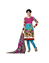 Siddhi Unstitched Cotton Printed Salwar Suit Dupatta Material ( SSH-201411061125AA )