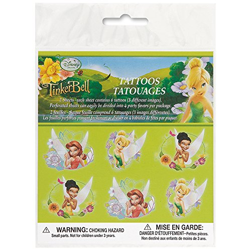 Disney Fairies Tattoos, 12ct - 1