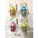 RIKANG RK-3431 STRAW SIPPER WITH HANDLE 240 ML COLOURS MAY VARY 1 SIPPER