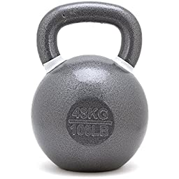 New Onefitwonder Solid Cast Iron Kettlebell Weight for Crossfit Training Strength Training Gym Exercise Superior Grip 48 Kg / 105 Lb