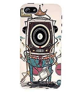 Printvisa Premium Back Cover Vintage Multiple Gadgets Pic Design For Apple iPhone 4::Apple iPhone 4S