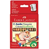 Faber-Castell 12ct Jumbo Triangular EcoPencils with Sharpener