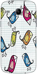 Snoogg Vector Seamless Pattern With Cartoon Birds Solid Snap On - Back Cover ...