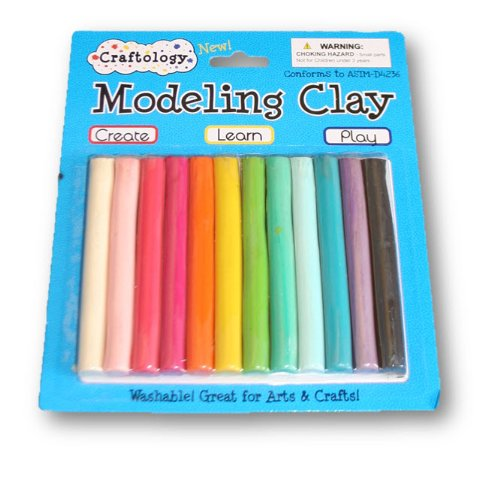 Craftology Modeling Clay - 8 Oz. Package - 12 Colors