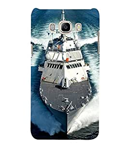 Ship on the Sea 3D Hard Polycarbonate Designer Back Case Cover for Samsung Galaxy J7 (6) 2016 Edition :: Samsung Galaxy J7 (2016) Duos :: Samsung Galaxy J7 2016 J710F J710FN J710M J710H