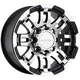 "Vision Warrior 375 Gloss Black Machined Face Wheel (17x8.5""/8x165.1mm)"