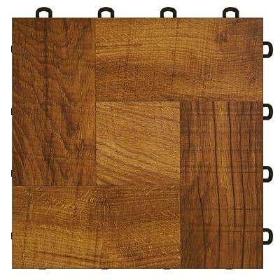 Basement Interlocking Laminate Tiles - Red Wood - 27 sq.ft.