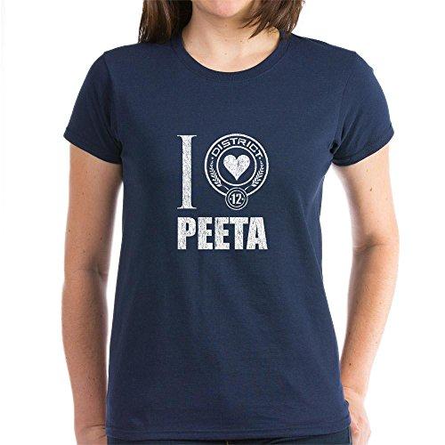 CafePress Peeta Mellark T-Shirt Women's Dark T-Shirt - L Navy