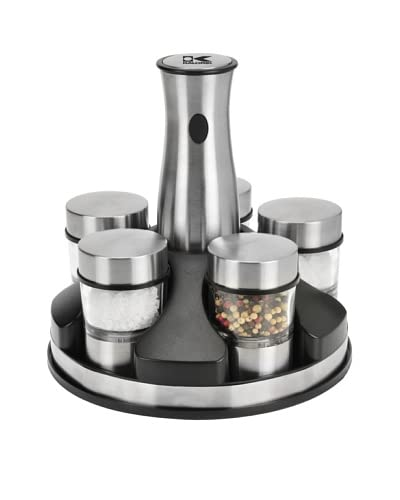 Kalorik Rechargeable Cordless Spice Mill Set, Stainless Steel