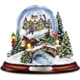 Thomas Kinkade Jingle Bells Illuminated Musical Christmas Snowglobe by The Bradford Exchange