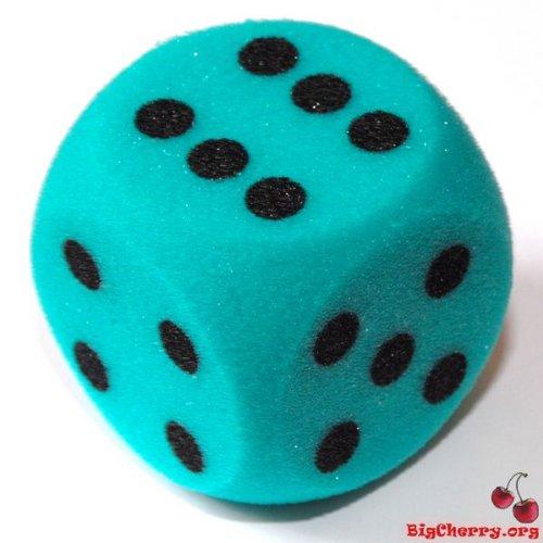 big-cherry-giant-dice-one-7cm-70mm-giant-foam-die-in-green-by-bigcherry