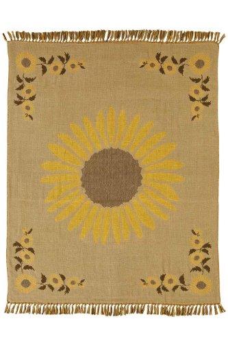 Sunflower Woven Throw Jacquard Weave 50x60