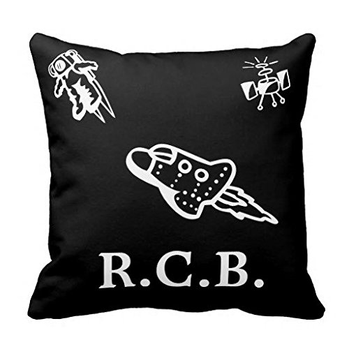 Monogram Astronaut Spaceship Satellite Cozy Kid Throw Pillow Case