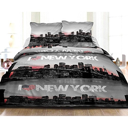 Housse de couette new york les bons plans de micromonde for Housse de couette new york 220x240